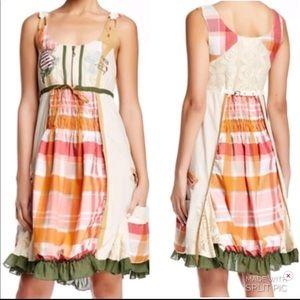 Desigual Patchwork  Dress Boho Gypsy Inspired